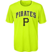 Majestic Youth Pittsburgh Pirates Glowing Game Neon T-Shirt