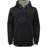 Majestic Youth Colorado Rockies Battle Pullover Hoodie