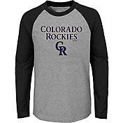 Majestic Youth Colorado Rockies Good Play Raglan Long Sleeve Shirt