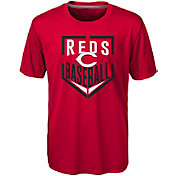 Majestic Boys' Cincinnati Reds Dri-Tek Run Scored T-Shirt