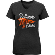Majestic Youth Girls' Baltimore Orioles Banner V-Neck T-Shirt