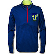 Majestic Youth Texas Rangers Excellence Quarter-Zip Fleece