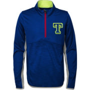 Majestic Youth Texas Rangers Excellence Quarter-Zip Fleece