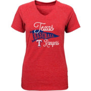 Majestic Youth Girls' Texas Rangers Banner V-Neck T-Shirt