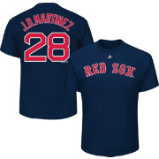Majestic Youth Boston Red Sox J.D. Martinez Navy T-Shirt