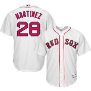 Youth Replica Boston Red Sox J.D. Martinez #28 Home White Jersey