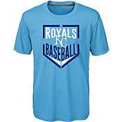 Majestic Boys' Kansas City Royals Dri-Tek Run Scored T-Shirt