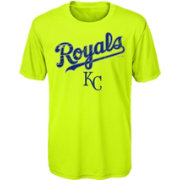 Majestic Youth Kansas City Royals Glowing Game Neon T-Shirt