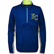 Majestic Youth Kansas City Royals Excellence Quarter-Zip Fleece