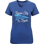 Majestic Youth Girls' Kansas City Royals Banner V-Neck T-Shirt
