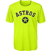 Majestic Youth Houston Astros Glowing Game Neon T-Shirt