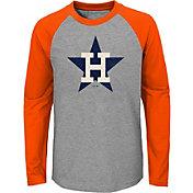 Majestic Youth Houston Astros Glory Days Raglan Long Sleeve Shirt