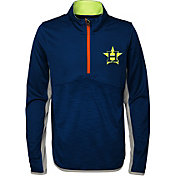 Majestic Youth Houston Astros Excellence Quarter-Zip Fleece