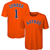 Majestic Youth Houston Astros Carlos Correa #1 Performance T-Shirt