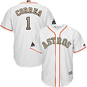 Majestic Youth Replica Houston Astros Carlos Correa #1 Championship Gold Cool Base Jersey