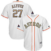 Majestic Youth Replica Houston Astros Jose Altuve #27 Championship Gold Cool Base Jersey
