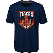 Majestic Boys' Detroit Tigers Dri-Tek Run Scored T-Shirt