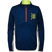 Majestic Youth Detroit Tigers Excellence Quarter-Zip Fleece