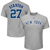 Majestic Youth New York Yankees Giancarlo Stanton Grey T-Shirt