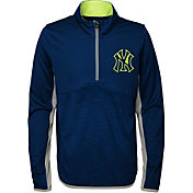 Majestic Youth New York Yankees Excellence Quarter-Zip Fleece