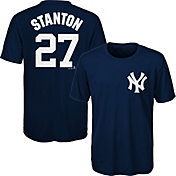Majestic Youth New York Yankees Giancarlo Stanton #27 Performance T-Shirt