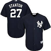 Youth Replica New York Yankees Giancarlo Stanton #27 Alternate Navy Jersey