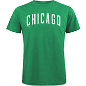 Majestic Threads Men's Chicago Cubs St. Patrick's Day Tri-Blend T-Shirt