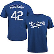 Majestic Threads Men's Los Angeles Dodgers Jackie Robinson Tri-Blend T-Shirt