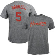 Majestic Threads Men's Houston Astros Jeff Bagwell Tri-Blend T-Shirt