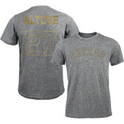 Majestic Threads Men's Houston Astros Jose Altuve #27 Championship Gold Tri-Blend T-Shirt