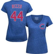 Majestic Threads Women's Chicago Cubs Anthony Rizzo Royal V-Neck T-Shirt