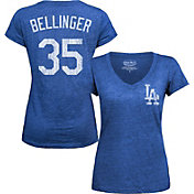 Majestic Threads Women's Los Angeles Dodgers Cody Bellinger Royal V-Neck T-Shirt