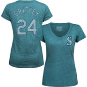 Majestic Threads Women's Seattle Mariners Ken Griffey Jr. Teal V-Neck T-Shirt