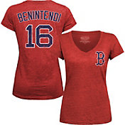 Majestic Threads Women's Boston Red Sox Andrew Benintendi Red V-Neck T-Shirt