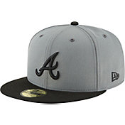 New Era Men's Atlanta Braves 59Fifty Basic Grey Fitted Hat