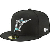 New Era Men's Miami Marlins 59Fifty 1993 Black Fitted Hat