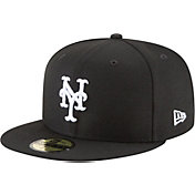 New Era Men's New York Mets 59Fifty Basic Black/White Fitted Hat