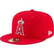 New Era Men's Los Angeles Angels 59Fifty Game Red Authentic Hat