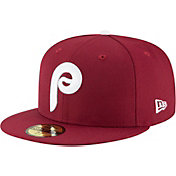 New Era Men's Philadelphia Phillies 59Fifty 1970 Maroon Fitted Hat