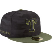New Era Men's Texas Rangers 59Fifty 2018 Memorial Day Fitted Hat