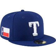 New Era Men's Texas Rangers 59Fifty Royal Fitted Hat w/ State Flag Patch