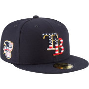 New Era Men's Tampa Bay Rays 59Fifty 2018 4th of July Fitted Hat