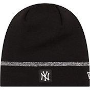 New Era Men's New York Yankees Black Knit Hat