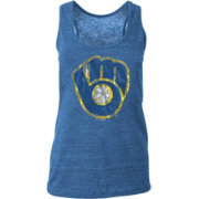 New Era Women's Milwaukee Brewers Tri-Blend Tank