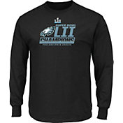 NFL Men's Super Bowl LII Champions Philadelphia Eagles Fanfare Long Sleeve Black Shirt