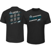 NFL Men's Super Bowl LII Champions Philadelphia Eagles Roster Black T-Shirt