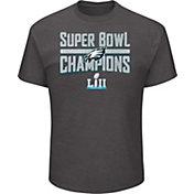 NFL Men's Super Bowl LII Champions Philadelphia Eagles Sudden Impact Charcoal T-Shirt