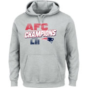 NFL Men's AFC Conference Champions New England Patriots Wonderstruck Grey Hoodie