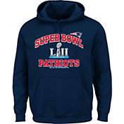 NFL Men's Super Bowl LII Bound New England Patriots Heart and Soul Navy Hoodie