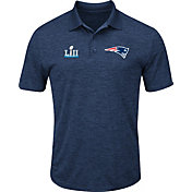 NFL Men's Super Bowl LII Bound New England Patriots End Zone Rush Navy Polo